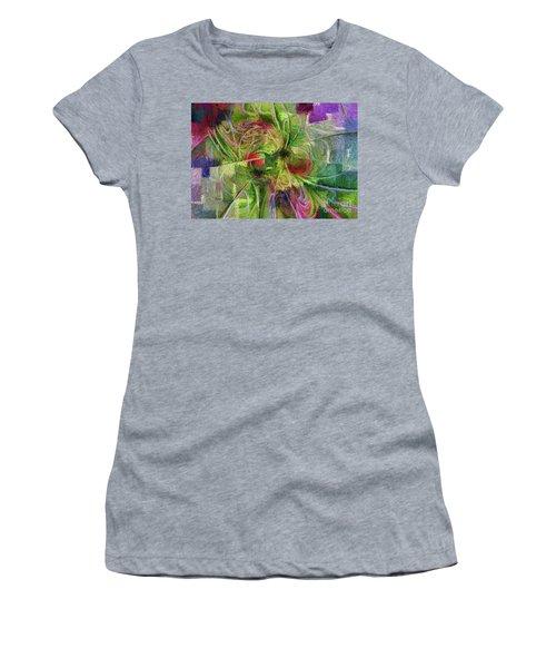 Women's T-Shirt (Junior Cut) featuring the digital art Abstract Of Color by Deborah Benoit