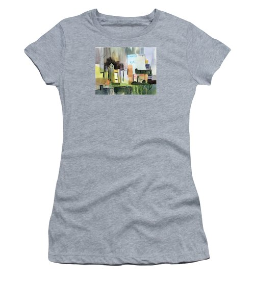 Abstract Opus 5 Women's T-Shirt (Junior Cut) by Larry Hamilton