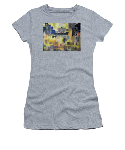 Abstract Stroll Women's T-Shirt (Athletic Fit)