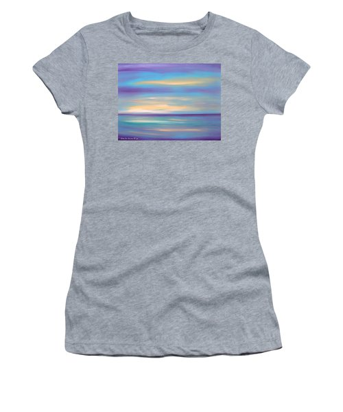 Abstract Sunset In Purple Blue And Yellow Women's T-Shirt