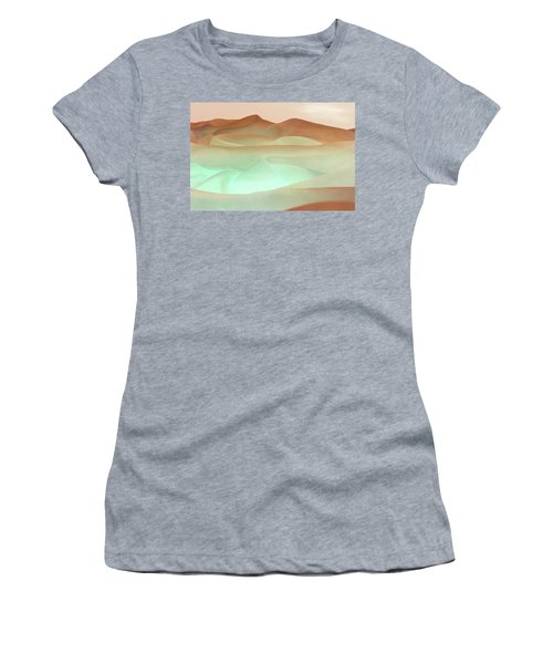 Abstract Terracotta Landscape Women's T-Shirt (Athletic Fit)