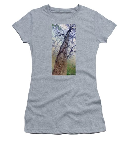 Abstract Tree Trunk Women's T-Shirt (Athletic Fit)