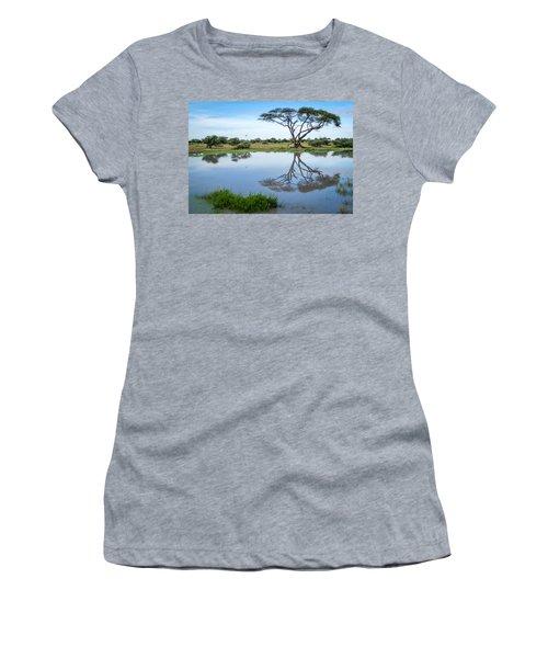 Acacia Tree Reflection Women's T-Shirt