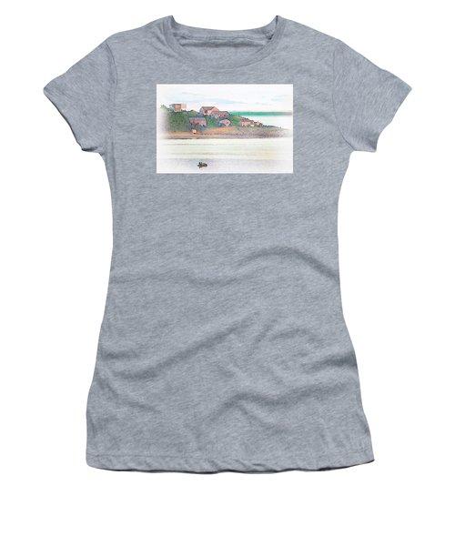 Adrift On The Bay At Sunset Women's T-Shirt