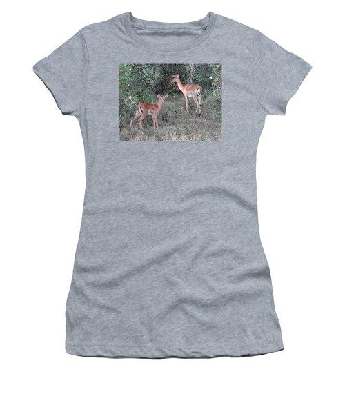 Africa - Animals In The Wild 2 Women's T-Shirt (Junior Cut) by Exploramum Exploramum