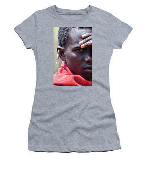 African Maasai Warrior Women's T-Shirt (Junior Cut)