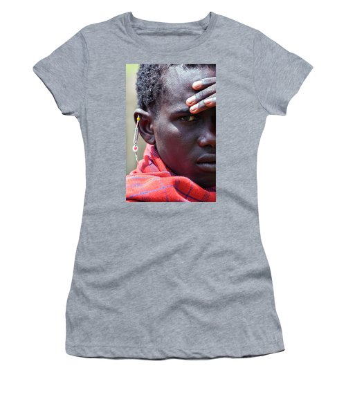 African Maasai Warrior Women's T-Shirt (Athletic Fit)