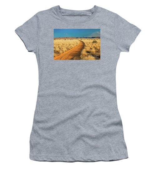 African Sand Road Women's T-Shirt (Athletic Fit)