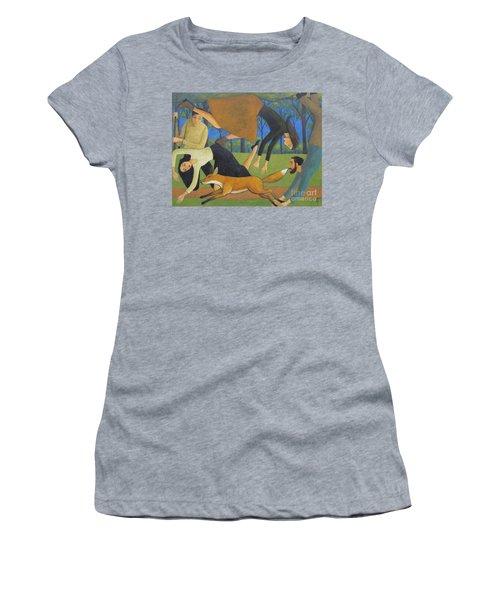 After The Fox Women's T-Shirt (Junior Cut) by Glenn Quist