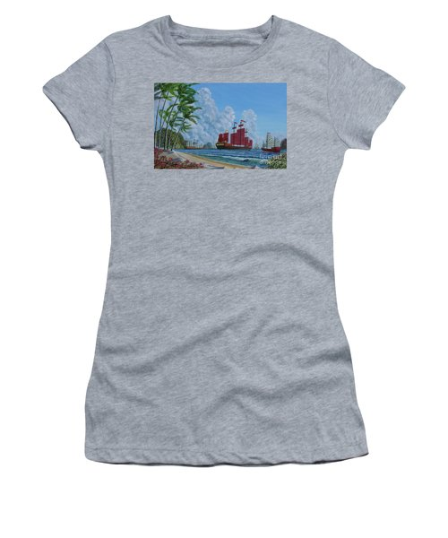 Women's T-Shirt (Junior Cut) featuring the painting After The Storm by Anthony Lyon