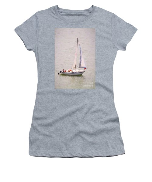 Women's T-Shirt (Athletic Fit) featuring the photograph Afternoon Sail by James BO Insogna