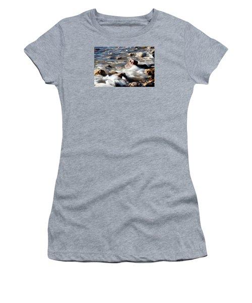 Women's T-Shirt (Junior Cut) featuring the photograph Against The Elaments. by Gary Bridger