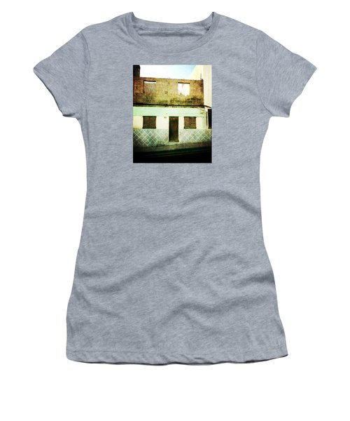 Women's T-Shirt (Athletic Fit) featuring the photograph Alcala Blue House No1 by Anne Kotan