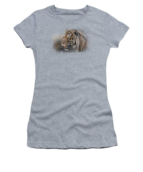 Alert Bengal Women's T-Shirt (Junior Cut) by Jai Johnson