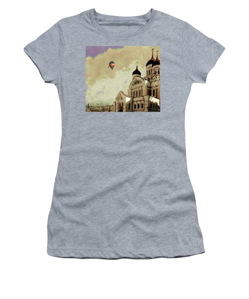 Alexander Nevsky Cathedral In Tallin, Estonia, My Memory. Women's T-Shirt (Athletic Fit)