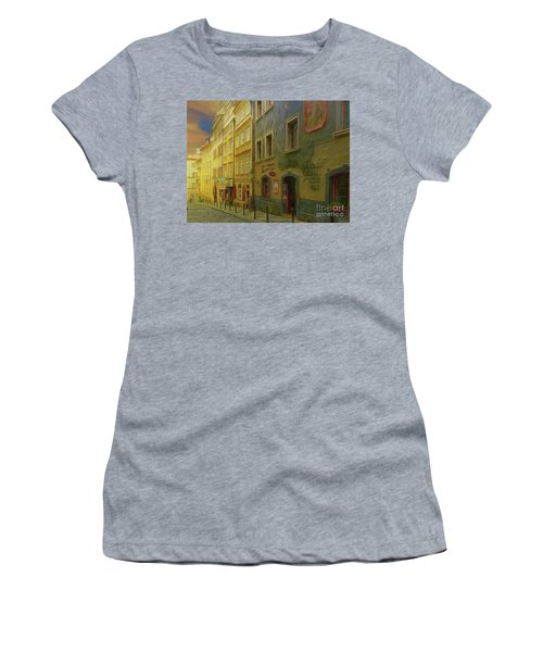 All Downhill From Here - Prague Street Scene Women's T-Shirt