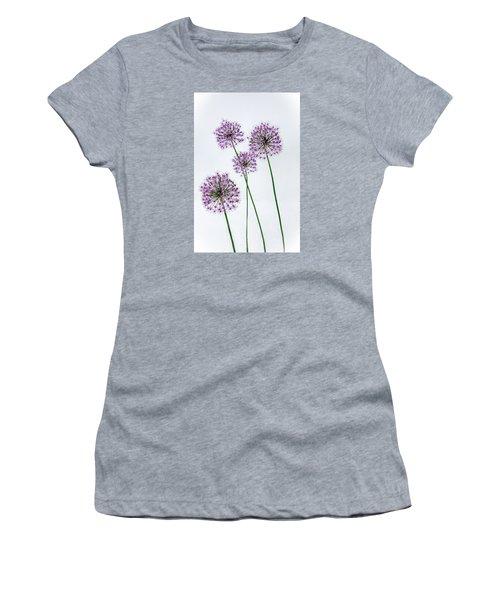 Alliums Standing Tall Women's T-Shirt (Junior Cut) by Susan  McMenamin
