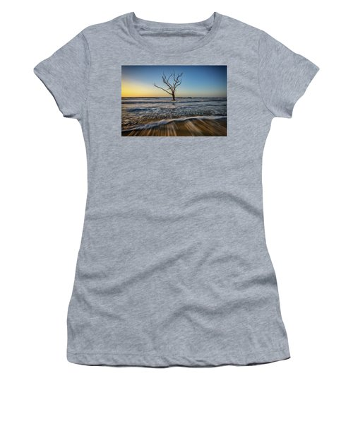 Women's T-Shirt (Junior Cut) featuring the photograph Alone In The Water by Rick Berk
