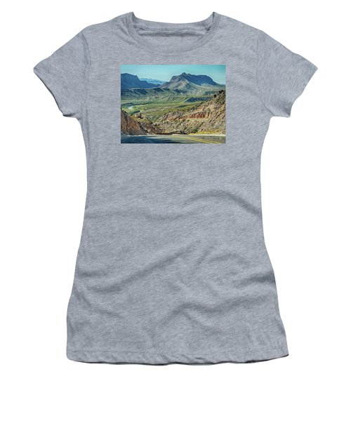 Along The Border Women's T-Shirt (Athletic Fit)