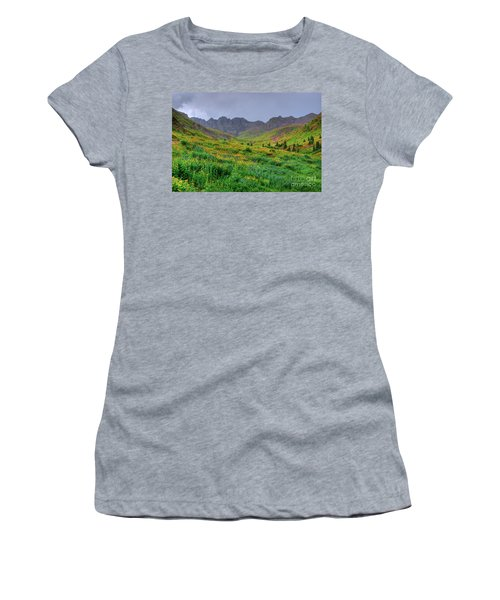 Women's T-Shirt (Junior Cut) featuring the photograph American Basin Summer Storm by Teri Atkins Brown