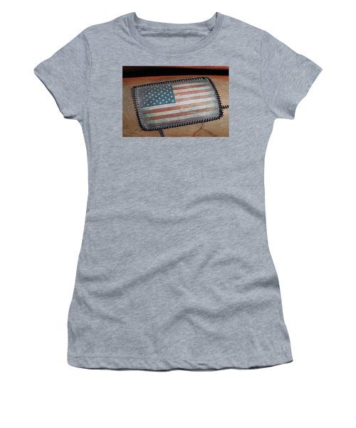 Women's T-Shirt (Junior Cut) featuring the photograph American Leather by Christopher McKenzie
