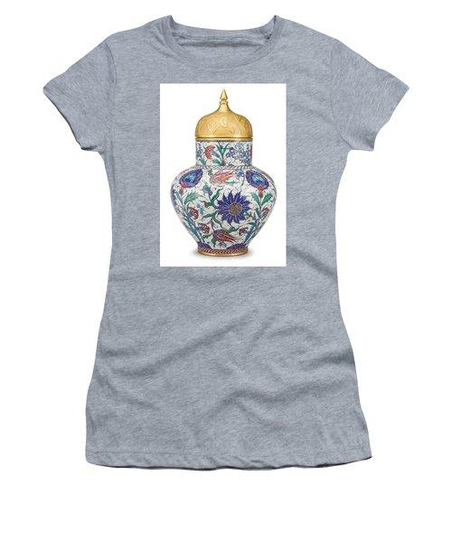 An Ottoman Iznik Style Floral Design Pottery Polychrome, By Adam Asar, No 8 Women's T-Shirt