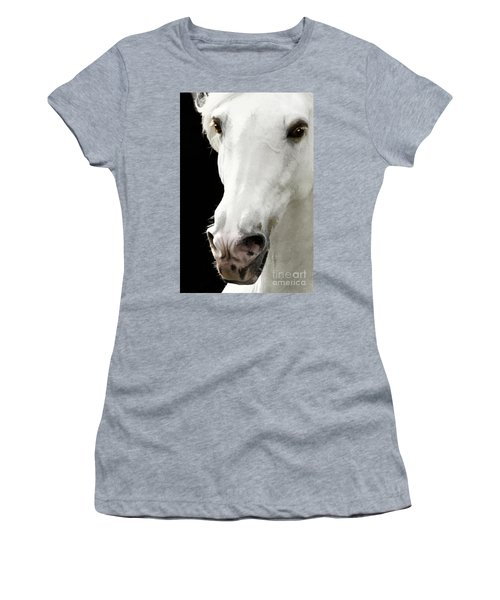 Women's T-Shirt (Athletic Fit) featuring the photograph Andalusian Stallion by Melinda Hughes-Berland