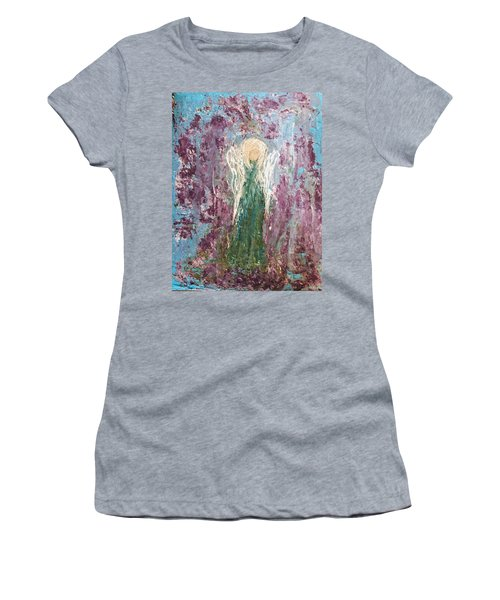 Angel Draped In Hydrangeas Women's T-Shirt