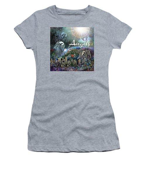Women's T-Shirt (Junior Cut) featuring the digital art Angels by Evie Cook