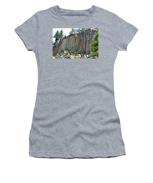 Angle View Desert Postpile Women's T-Shirt