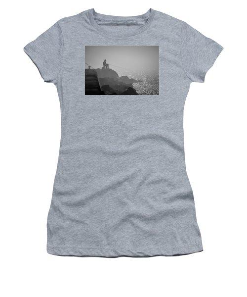 Angling In A Fog  Women's T-Shirt