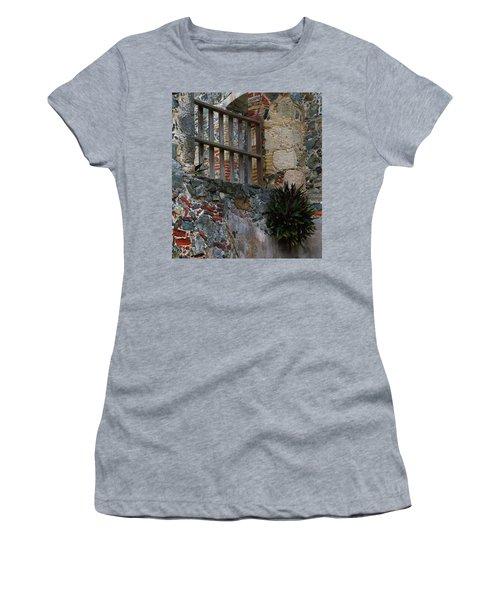 Annaberg Ruin Brickwork At U.s. Virgin Islands National Park Women's T-Shirt (Junior Cut) by Jetson Nguyen