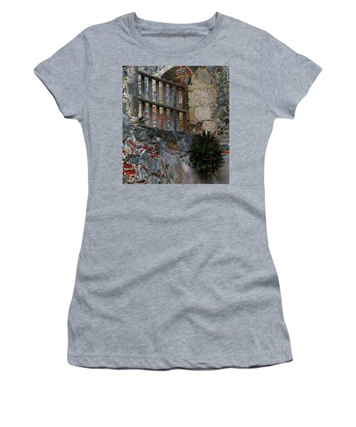 Annaberg Ruin Brickwork At U.s. Virgin Islands National Park Women's T-Shirt (Athletic Fit)