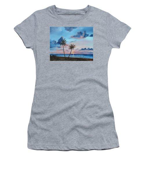 Another Paradise Sunset Women's T-Shirt (Junior Cut) by Lloyd Dobson