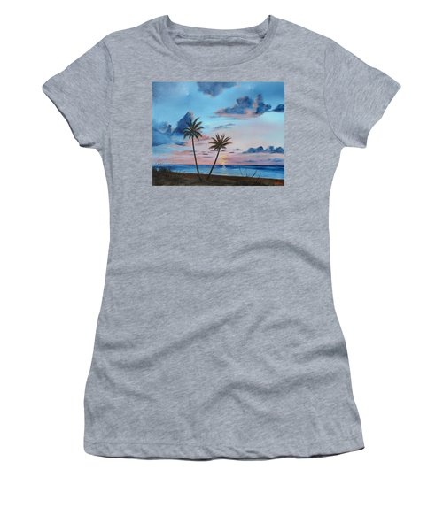 Another Paradise Sunset Women's T-Shirt (Athletic Fit)