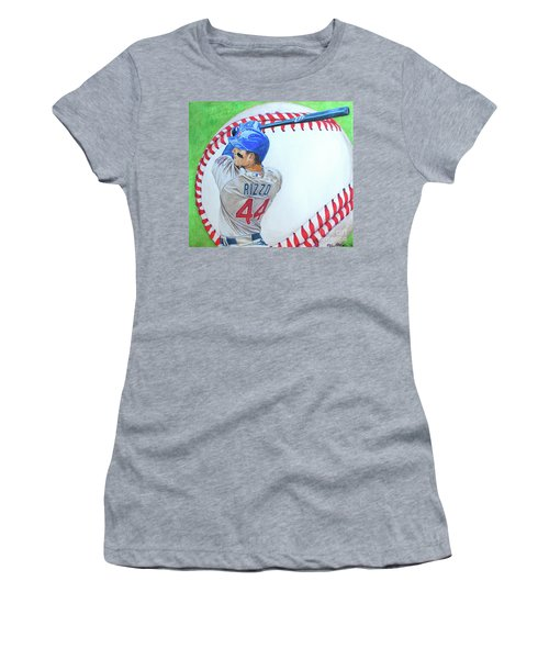 Anthony Rizzo 2016 Women's T-Shirt (Junior Cut) by Melissa Goodrich