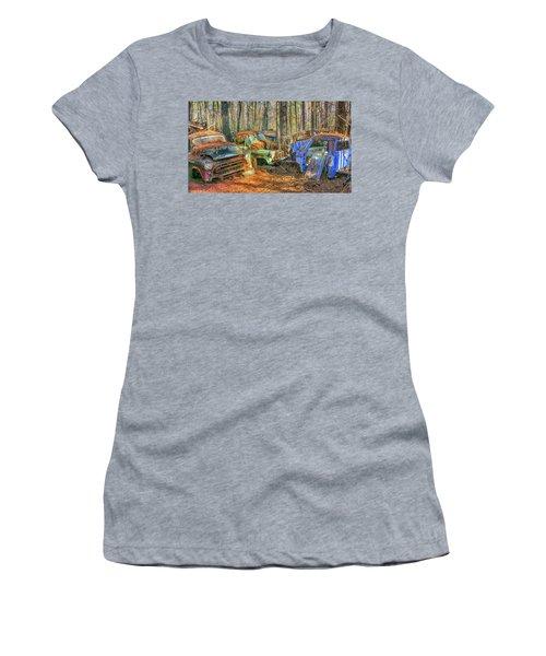 Antique Trucks Women's T-Shirt (Athletic Fit)