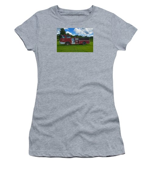 Antique Fire Truck Women's T-Shirt (Athletic Fit)