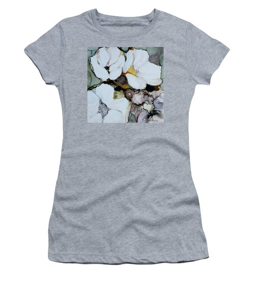 Women's T-Shirt (Junior Cut) featuring the painting Apple Blossoms by Joanne Smoley
