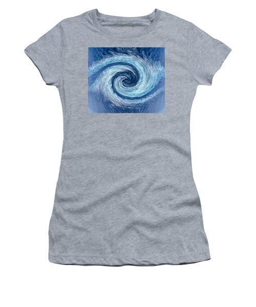Aqua Swirl Women's T-Shirt (Athletic Fit)