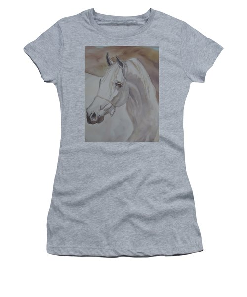 Arab Stallion In The Desert Women's T-Shirt (Athletic Fit)