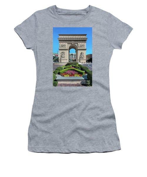 Arc De Triomphe Paris Casino Las Vegas Women's T-Shirt (Athletic Fit)