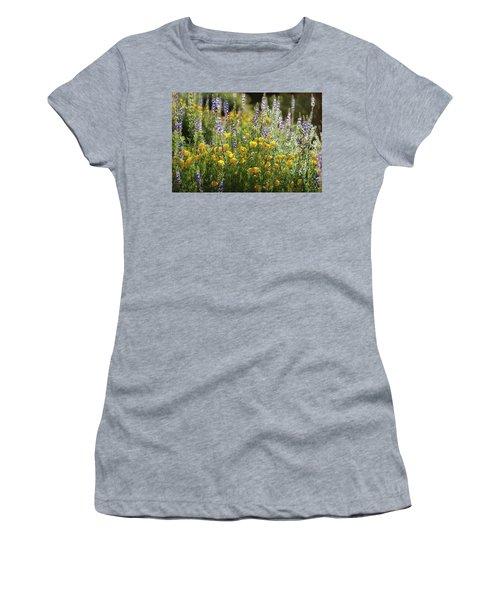 Women's T-Shirt (Junior Cut) featuring the photograph Arizona Spring Wildflowers  by Saija Lehtonen