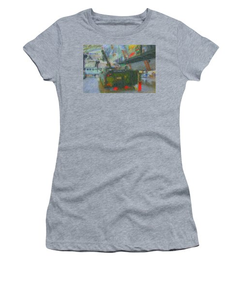 Women's T-Shirt featuring the digital art Armored Personnel Carrier by John Lowe
