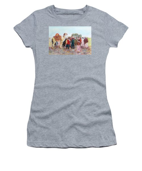 Around The Music Party Women's T-Shirt (Athletic Fit)