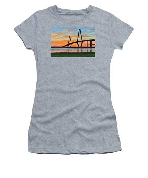 Arthur Ravenel Jr. Bridge At Dusk - Charleston Sc Women's T-Shirt