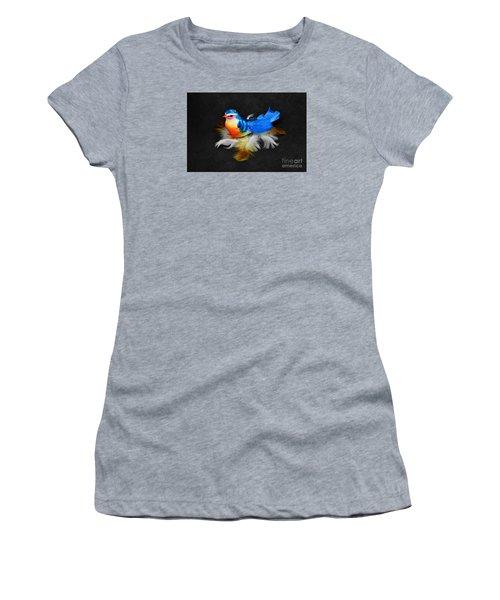 Artificial Blue Bird Women's T-Shirt (Athletic Fit)