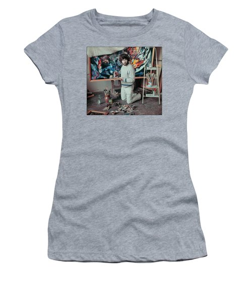 Artist In His Studio Women's T-Shirt (Athletic Fit)