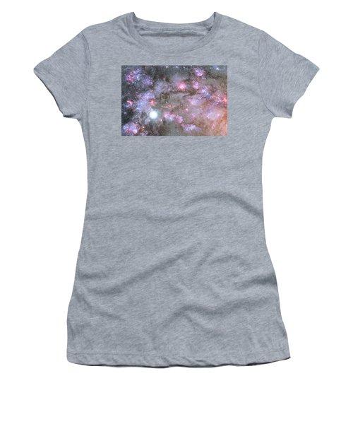 Women's T-Shirt (Junior Cut) featuring the digital art Artist's View Of A Dense Galaxy Core Forming by Nasa