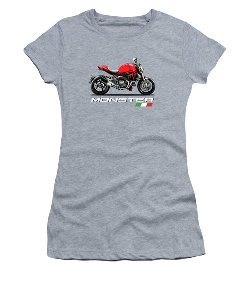 Ducati Monster Women's T-Shirt (Athletic Fit)
